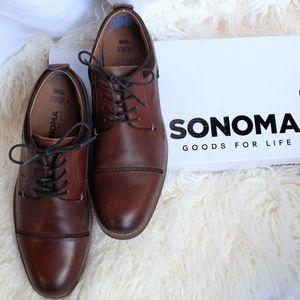 Genuine Leather Sonoma Efren +3 pair dress socks